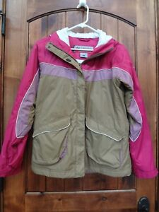 COLUMBIA CONVERT OMNI-TECH PINK SNOWBOARDING SKI JACKET HOODED WOMEN S GIRLS XL