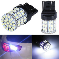 2x Car T20 W21W 7443 7440 64-SMD LED Tail Brake Backup Reverse Light Bulbs White