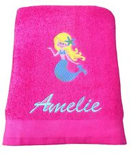 Personalised, Girls Mermaid Beach, Swimming Towel