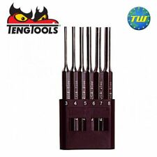 Teng Tools 6pc Parallel Pin Punch Steel Striking Set 3 4 5 6 7 8mm X 150mm PPS06