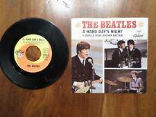 45 RPM: Beatles A Hard Days Night w/ PS Capitol 5222  Swirl VG Vinyl VG+ PS
