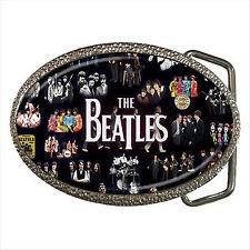 NUOVO * SEXY The Beatles Qualità Chrome Fibbia della Cintura Regalo