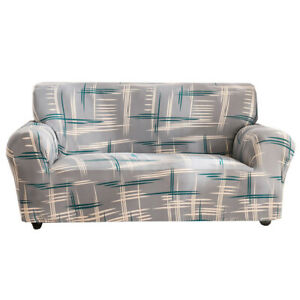 Slipcover Couch Cover Universal 1/2/3/4 Seater Geometric Sofa Cover Durable