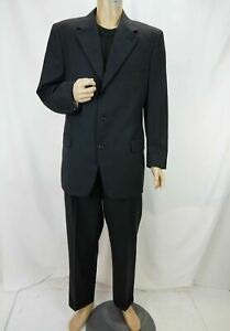 Canali Proposta Super 120's Wool 2-Piece Suit Made in Italy Black Men's Size 52