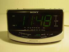 Nice Sony Dream Machine Fm/Am Alarm Clock Radio Icf-C492 (Silver)