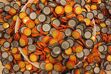 "500 ARCADE TOKEN ""A"" BREWERY BEER BOTTLE CAPS UNCRIMPED BRIGHT ORANGE YELLOW"