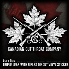 CANADIAN TRIPLE LEAF W/ LEE ENFIELD RIFLES Large Vinyl Decal