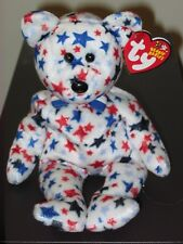 Ty Beanie Baby ~ RED, WHITE & BLUE the Bear ~ MWMT'S ~ Stuffed Animal ~Plush Toy