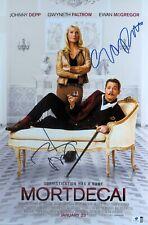 Johnny Depp Gwyneth Paltrow Signed Autographed 12X18 Photo Mortdecai GV793502