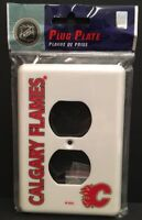 NEW 2006 Calgary Flames NHL Hockey White Plug Outlet Cover Plate