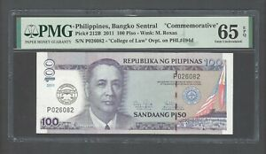 Philippines 100 Piso 2011 P212B Commemorative  Uncirculated Grade 65