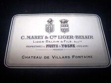 etiquette vin ancienne chateau villars fontaine liger belair wine label