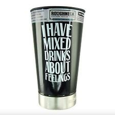 "Roughneck Stainless Steel 16oz Vacuum Beer Glass With Bottle Opener ""I Have.."""