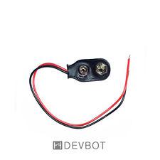 Clip, coupleur, connecteur pour piles 9V + Fils 6F22. DIY, Arduino, Raspberry Pi