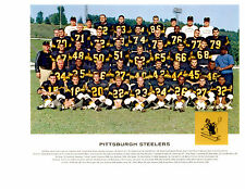 PITTSBURGH STEELERS 8X10 TEAM PHOTOS LOT OF 4  1962 1968 1972 1987 FOOTBALL