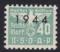 Stamp Germany Revenue WWII 1944 3rd Reich War Era Party Dues 00.40 MNH