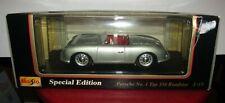 Maisto Porsche No 1 Typ 156 Roadster 1/18 Scale Diecast Silver Replica Model Car
