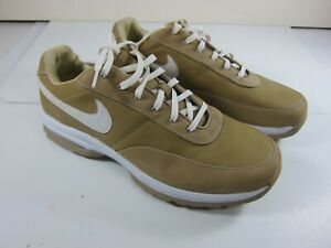 Nike Gold 8 Women's Size 9 Gold/White Leather Golf Shoes 313468-212