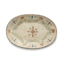 Arte Italica Medici Large Oval Platter, Cream, Green, Rust - Med2450