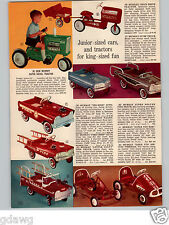 1966 PAPER AD Murray Super Diesel Tractor Pedal Car Tee Bird Station Wagon