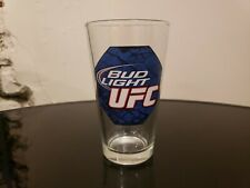 Bud Light Beer UFC 16 oz Pint Glass Official Collectable Barware AB Blue Red