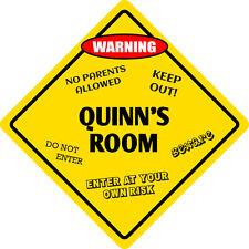 """*Aluminum* Quinn's Room Kids Room Door 12""""x12"""" Metal Novelty Sign"""