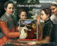 More details for liberia art stamps 2020 mnh chess in paintings wagrez sports games 1v s/s
