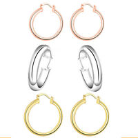 Eternity Gold Essential Hoop Earrings in 10K Gold