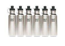 Klean Kanteen 27 oz Stainless Steel Water Bottle with Sports Cap, Box of 6
