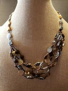 Brighton Necklace With Silver And Gold Tone With Glass Beads gorgeous!