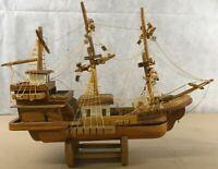 Solid Wood Handmade Ship Vessel Sailing Decor Repair A1