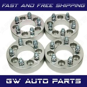 """4 PC Wheel Spacer Adapters 5x4.5 to 5x4.75 Thick 1"""" CB 74MM STUD 12x1.5 Fit Jeep"""
