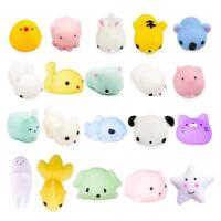 20PCS Squishy Mochi Cute Cat Squeeze Healing Kawaii Toys Decor Stress Reliever
