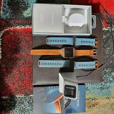 Fitbit Ionic smart watch Slate Blue/Burnt free strap and charging stand