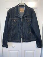 Women's Levi's Levi Strauss Signature Misses Denim Jean Jacket Size XL Trucker