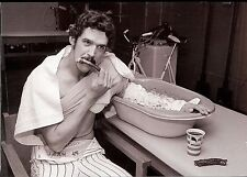 NY YANKEES RON GUIDRY GET HIS ARM ICED AFTER THE GAME AND ENJOYS SOME CHOW