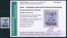 Besetzung Kotor 0,25 RM Aufdruckfehler 1944** Michel 9 PF VIII Befund (S14463)
