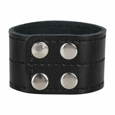 Mens Penis Strap Genuine Leather Rings Studded Impotence Aid Costume Clubwear