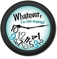 Whatever Blue Wall Clock - Teen Dorm Bedroom FUNNY HUMOR - GREAT GIFT