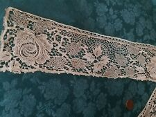 Roses antique Shiffli tiny trim lace W Spider Webs French Child'S collar