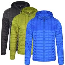 Mens Quilted Thermoball Jacket Insulated Light Warm Trekking Outdoor Zip Hoodie