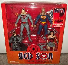 2008 Superman Red Son Box Set Batman Wonder Woman Bizarro Figure DC Direct funko
