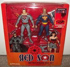 2008 Superman Red Son Box Set Batman Wonder Woman Bizarro Figure DC Direct funko