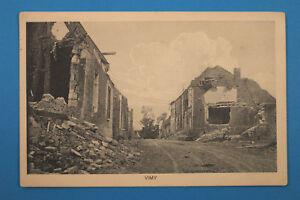 Pas de Calais 62 AK CPA Vimy 1916 Rue Maisons Fermes detruit Ruine 1.WK WWI ++++