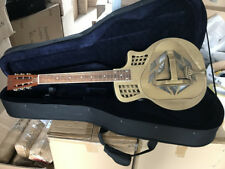 Aiersi BRAND Cutway Bell Brass Body Tricone Blues Slide Resonator Guitar