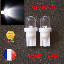 2 AMPOULES LED W5W BLANC XENON VEILLEUSE T10 PUSH WEDGE LIGHT BULB WHITE