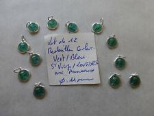 lot de 12 medailles Sainte Vierge Marie couleur BLEU / VERT colors medals  MARY