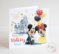 Disney Mickey and Minnie Mouse Birthday Card - Personalised