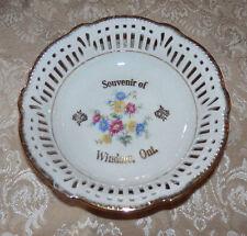 Vtg Schwarzenhammer Germany Reticulated Bowl Souvenir of Windsor Ontario