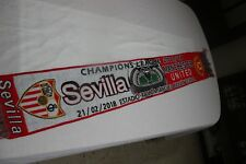 BUFANDA FUTBOL CHAMPIONS LEAGUE SEVILLA F.C. Y MANCHESTER UNITED NUEVA    SCARF